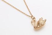 Wings of desire swan rose gold